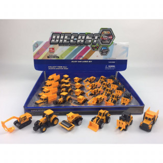 Hk Mini igračka građevinsko vozilo-die cast, display 24 komada