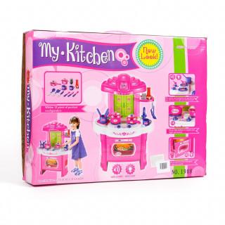 Qunsheng Toys, igračka kuhinja sa dodacima-roze