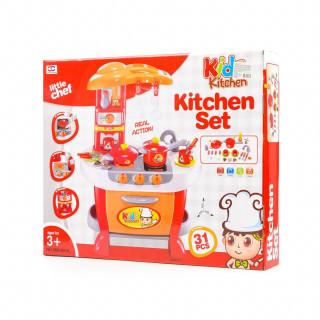 Qunsheng Toys, igračka kuhinja sa dodacima-crvena
