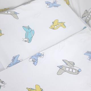 Lillo&Pippo punjena posteljina Avioni