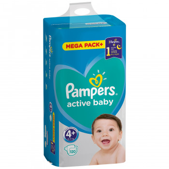 Pampers pelene MB 4+ maxi plus 10-15kg 120kom