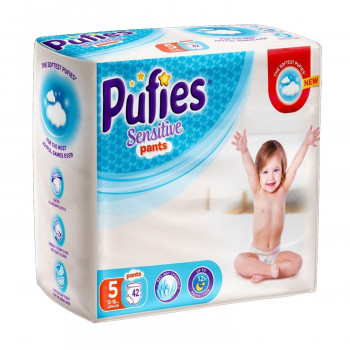 Pufies pelene pants sensit.5 junior 12-18kg 42kom