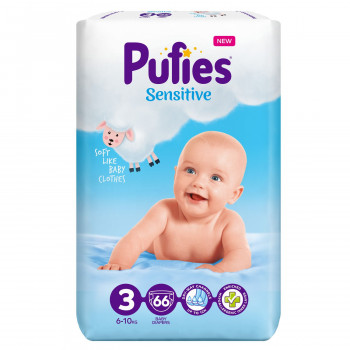 Pufies pelene sensitive MP 3 mini 6-10kg 66 kom