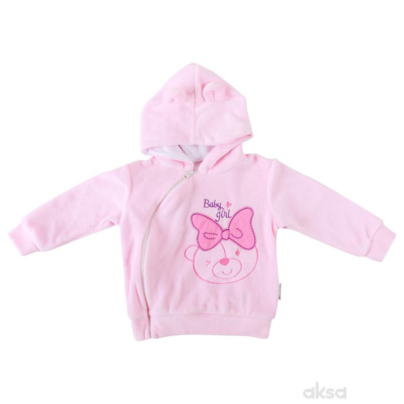 Lill&Pippo bebi jakna sa kapuljačom 3004-N devojčice,pliš,68(6M+)