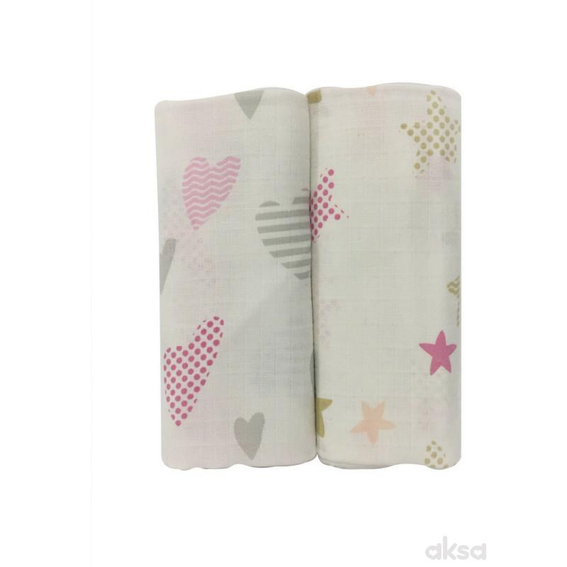 Baby Textil tetra pelena 2u1 Zvijezde , 80x90cm
