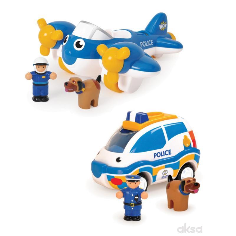 Wow igračka set 2u1 policija