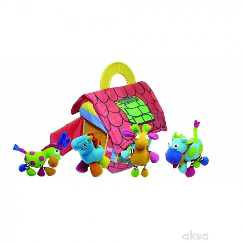 Biba Toys plišana kućica + 4 životinje
