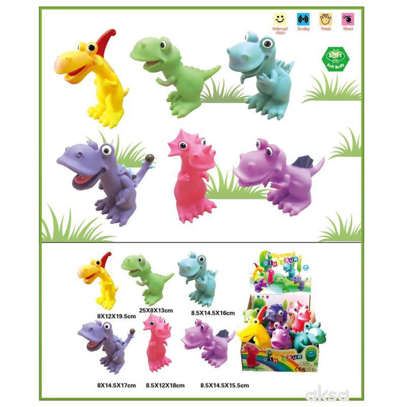 Hk Mini igračka gumeni dinosaursi u displeju, 6 komada