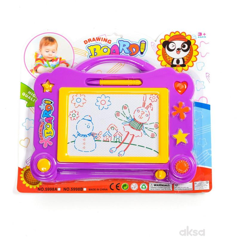 Hk Mini igračka tabla piši briši sa pečatima