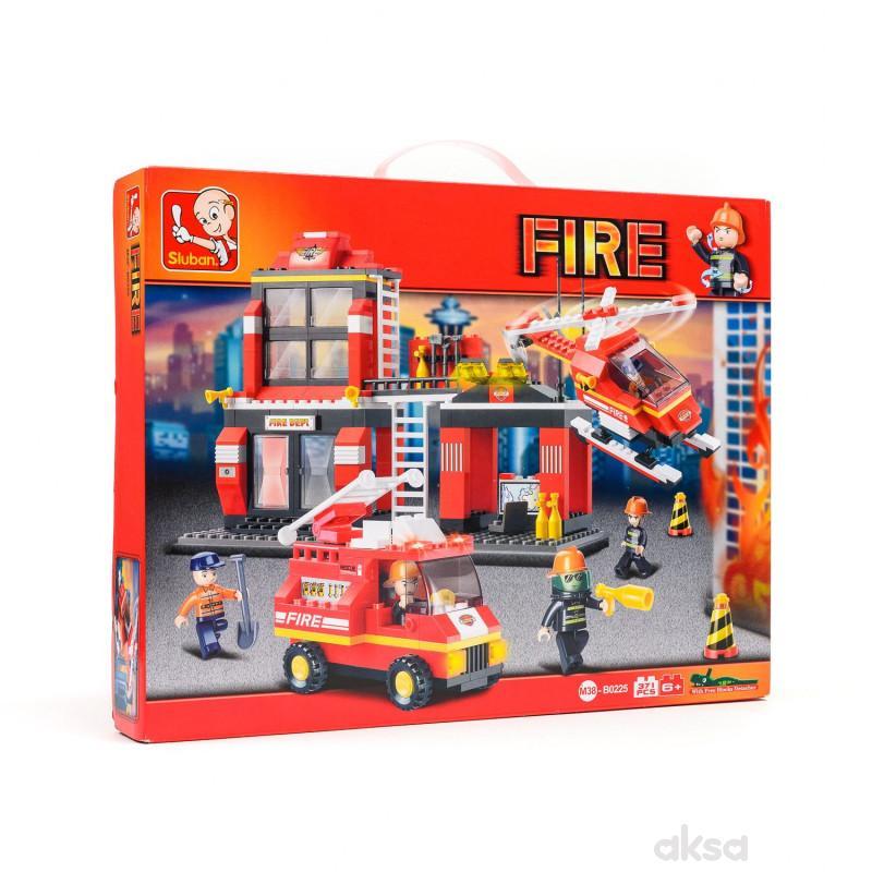 Sluban kocke, hitna vatrogasna služba, 371 kom