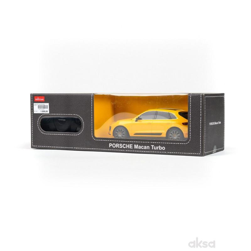 Rastar RC auto Porsche Macan Turbo 1:24 -crv, žut