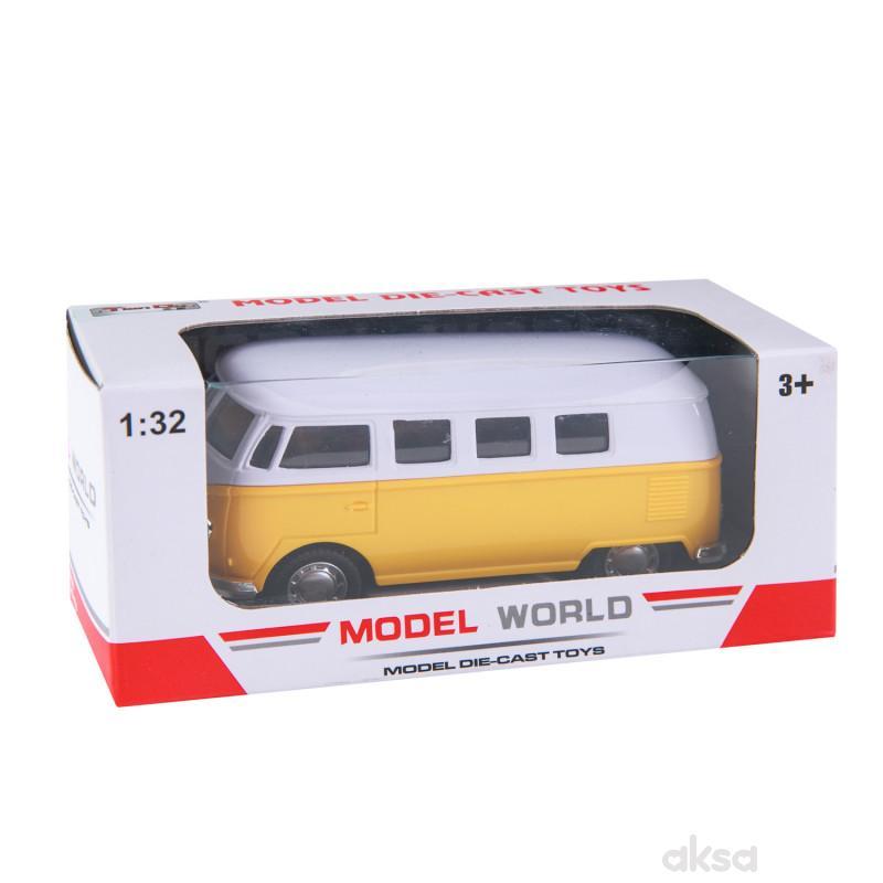 HK Mini igračka, automobil 1:32 - bus old timer