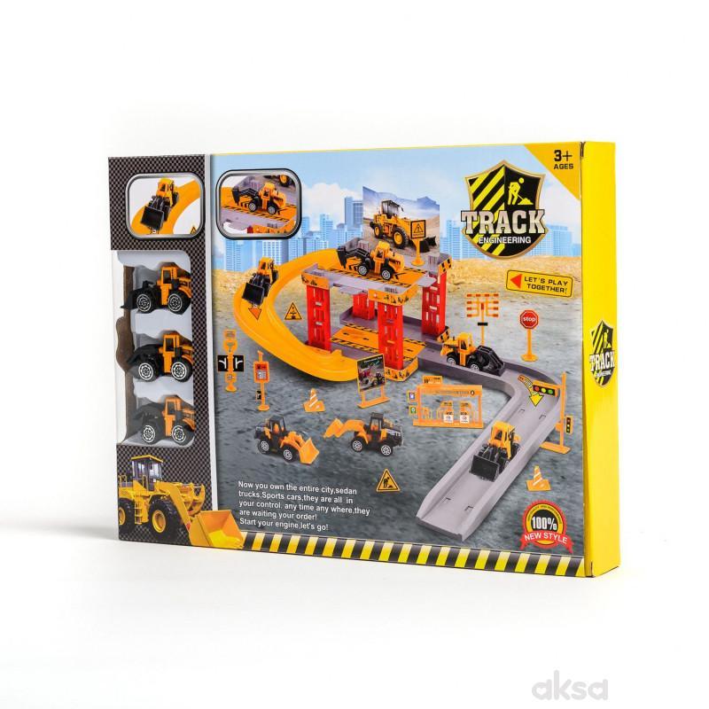 HK Mini igračka parking set građevinci
