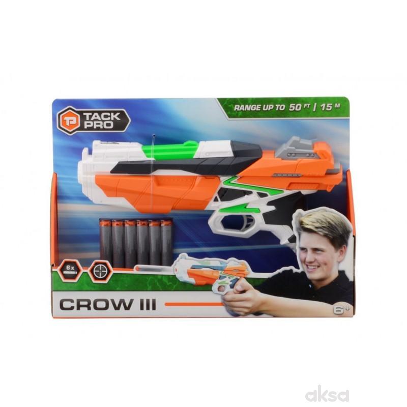 Tack Pro Shooter Pistolj 29cm sa svjetlom 6 metaka