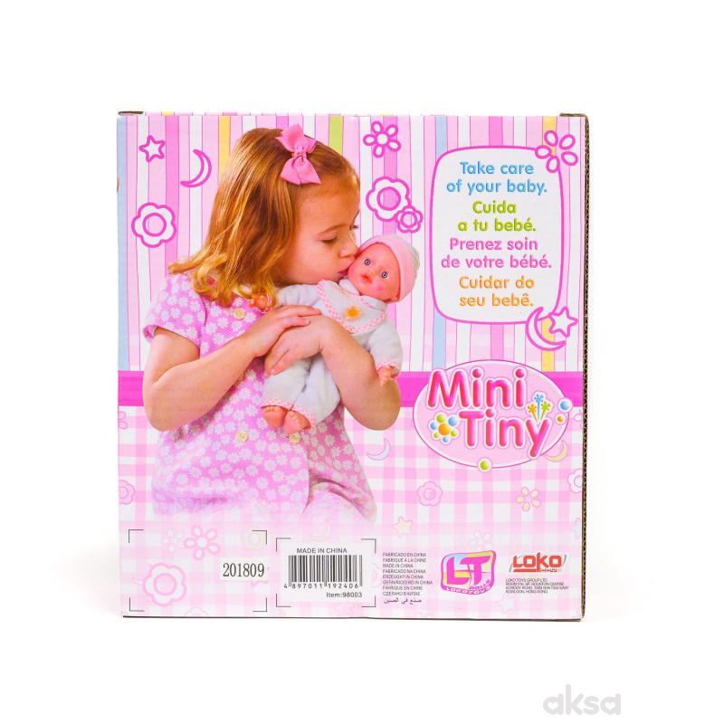 Loko toys, lutka beba, mini sa mašnicom, 20 cm