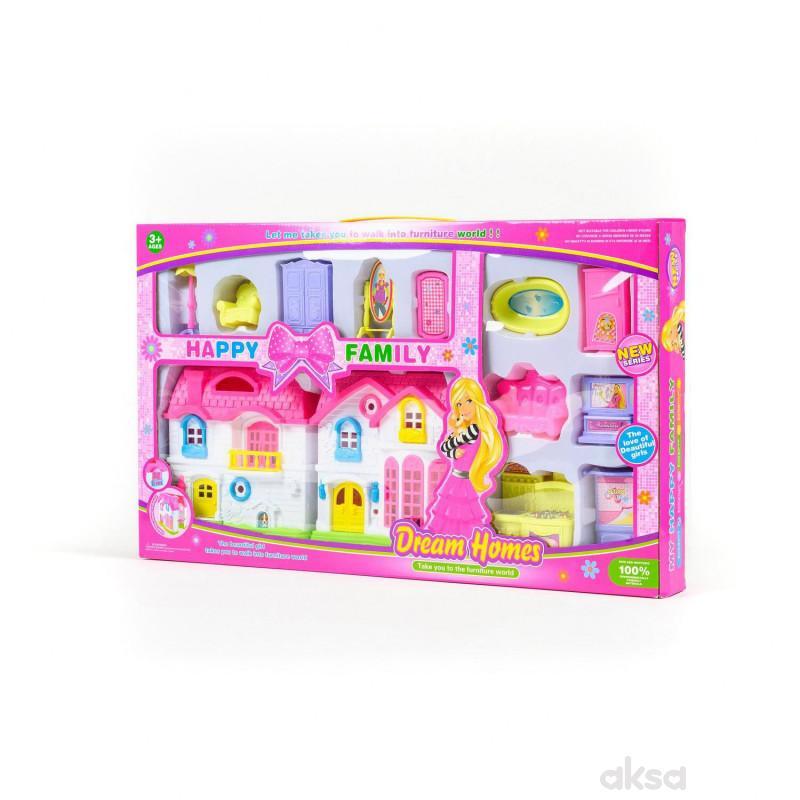 HK Mini igračka, kućica za lutke sa namještajem