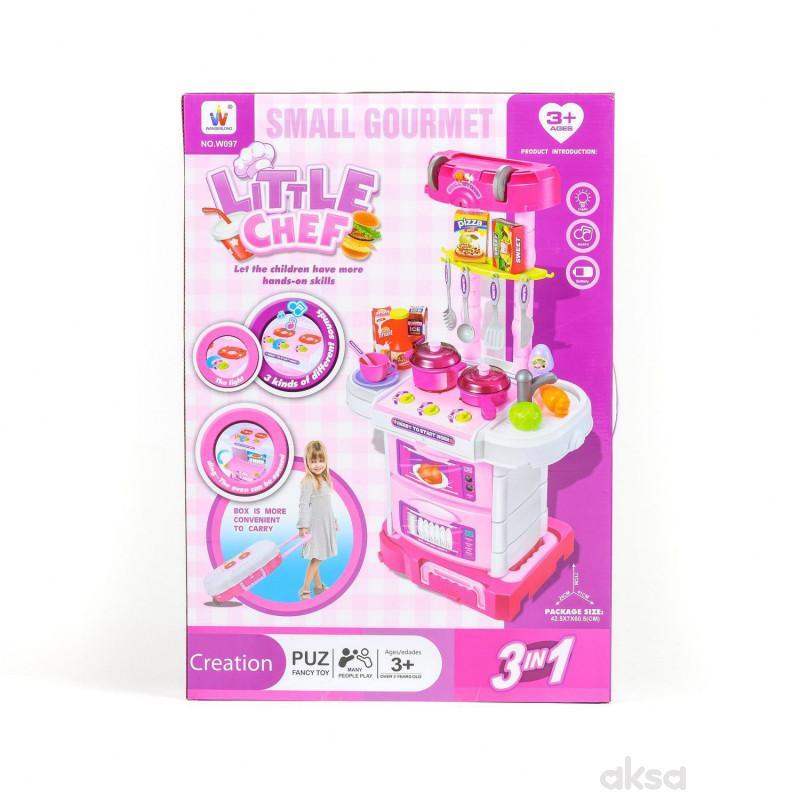 Qunsheng Toys, igračka kuhinjski set 3 u 1