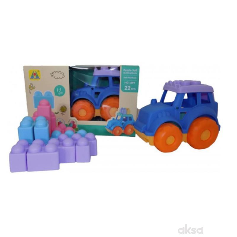 Baby Mekani Traktor I Kocke 22 dijela