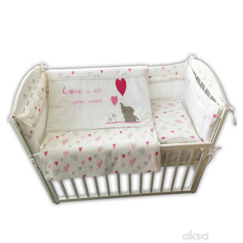 Baby Textil posteljina Slon i zeko,6/1,80x120CM