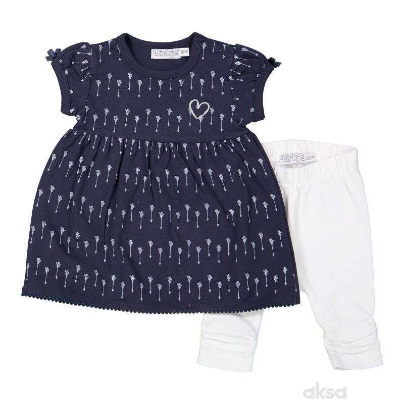 Dirkje komplet (haljina k.r i helanke),djevojčice