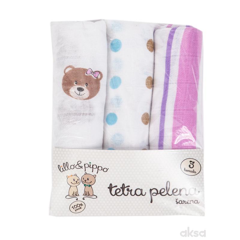 Lillo&Pippo,tetra pelena,šarena