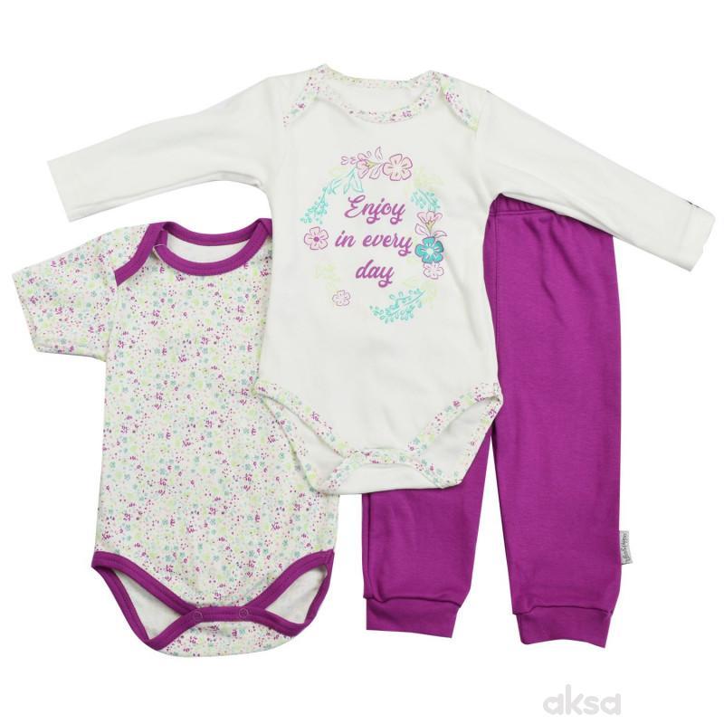 Lillo&Pippo baby komplet 3/1,djevojčice