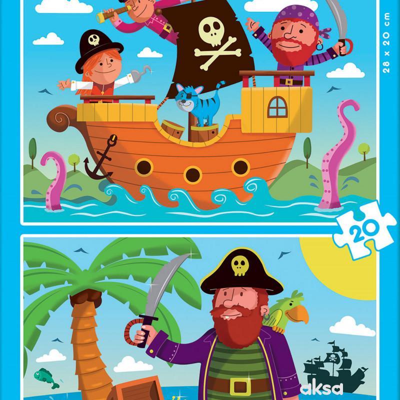 Educa slagalica Pirati 2 x 16 dijelova