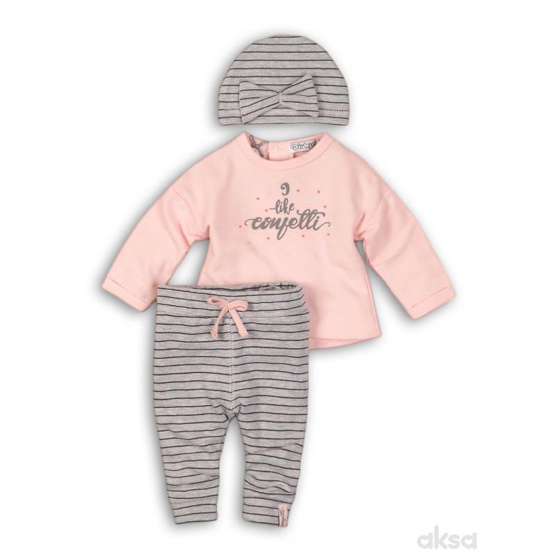 Dirkje komplet(majica dr, donji dio i kapa),djevojč