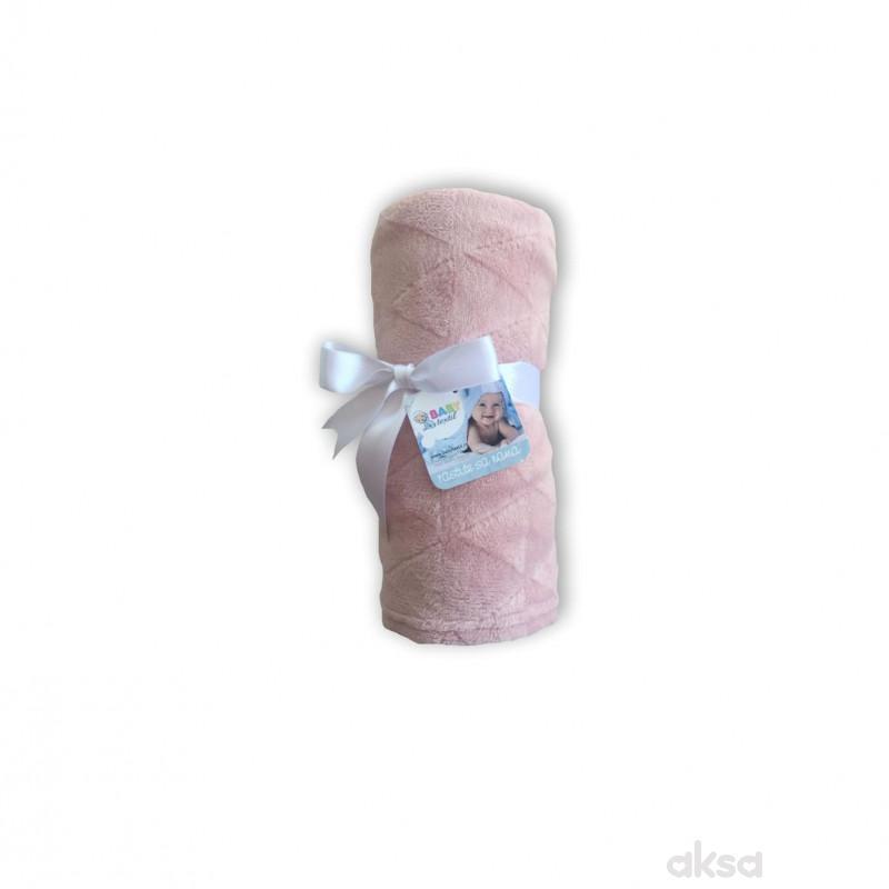 Baby Textil deka Klara,80x90,roze