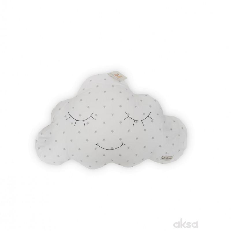 Lillo&Pippo ukrasni jastuk Oblak,siva-SIVA  12-SIVA