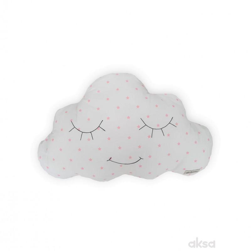 Lillo&Pippo ukrasni jastuk Oblak,roze-ROZE  3-ROZE