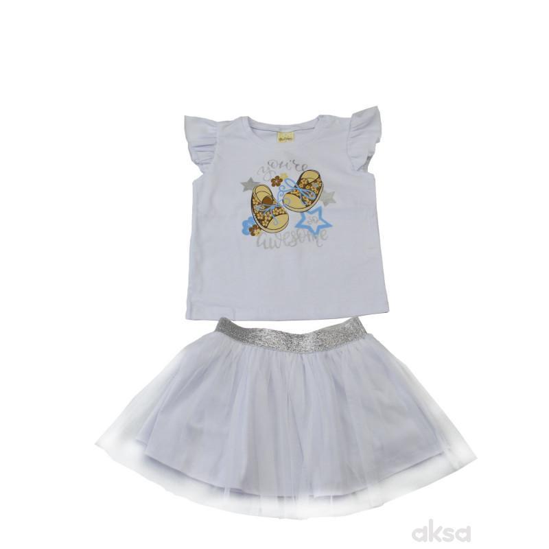 Lillo&Pippo komplet(majica i suknja)djevojčice