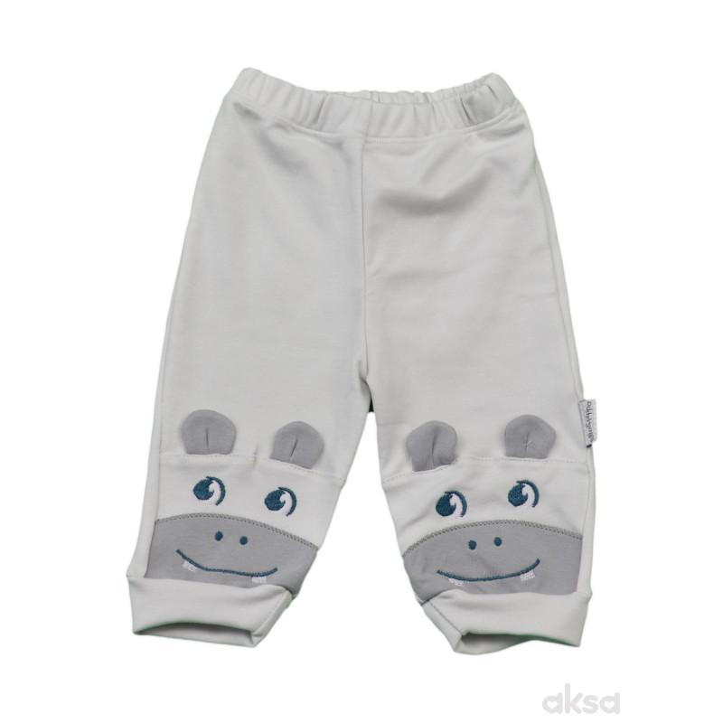 Lillo&Pippo bebi pantalone, dečaci-56 56 12-SIVA