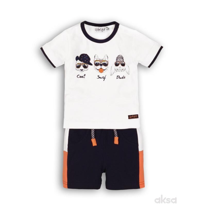 Dirkje komplet(majica kr, šorc),dečaci,1-86-1-86 1-86 1-BELA