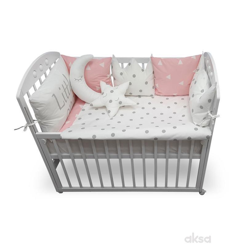 Lillo&Pippo punjena posteljina Kruna