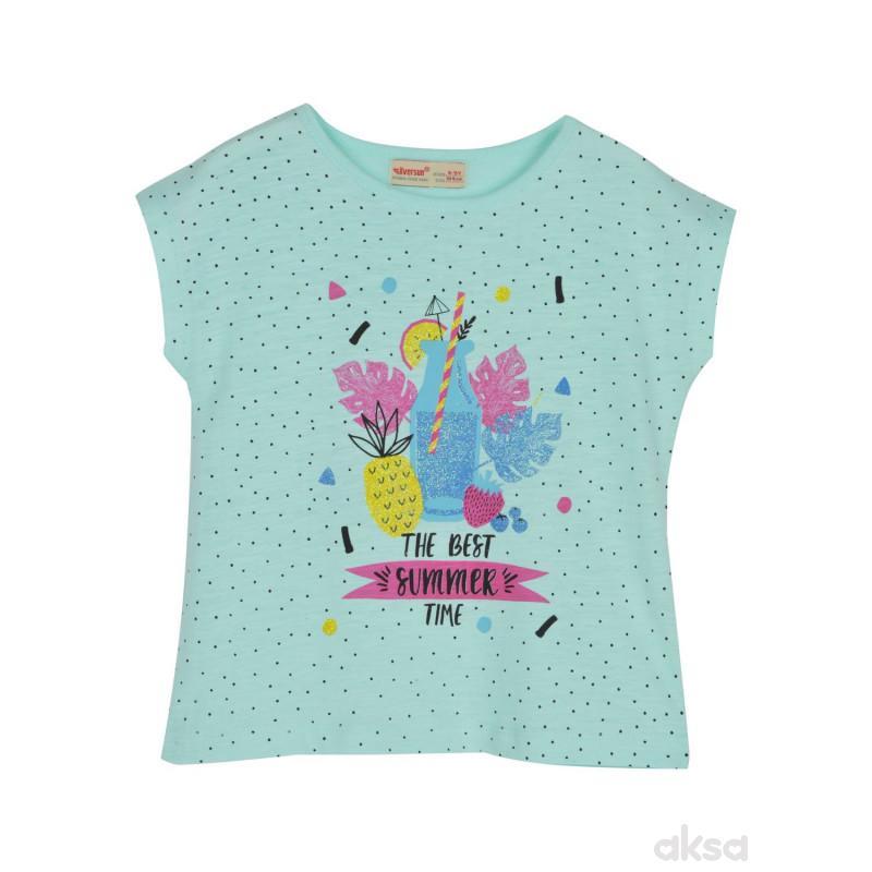 SilverSun majica,devojčice,kr,2-92-2-92  7-ZELENA