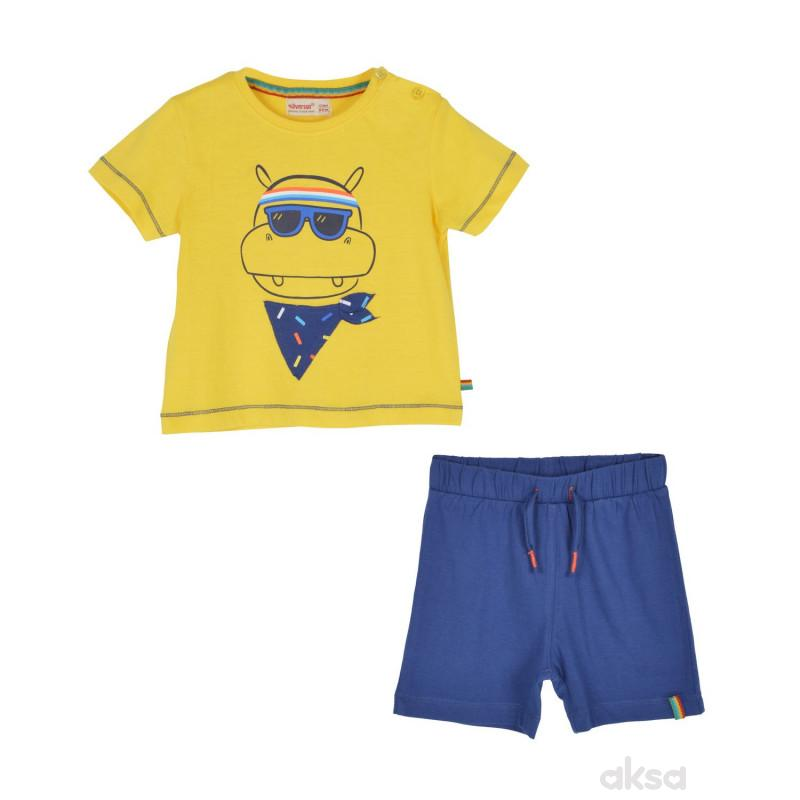 SilverSun komplet (majica,kr i šorc),dečaci,1-86-1-86  4-ŽUTA