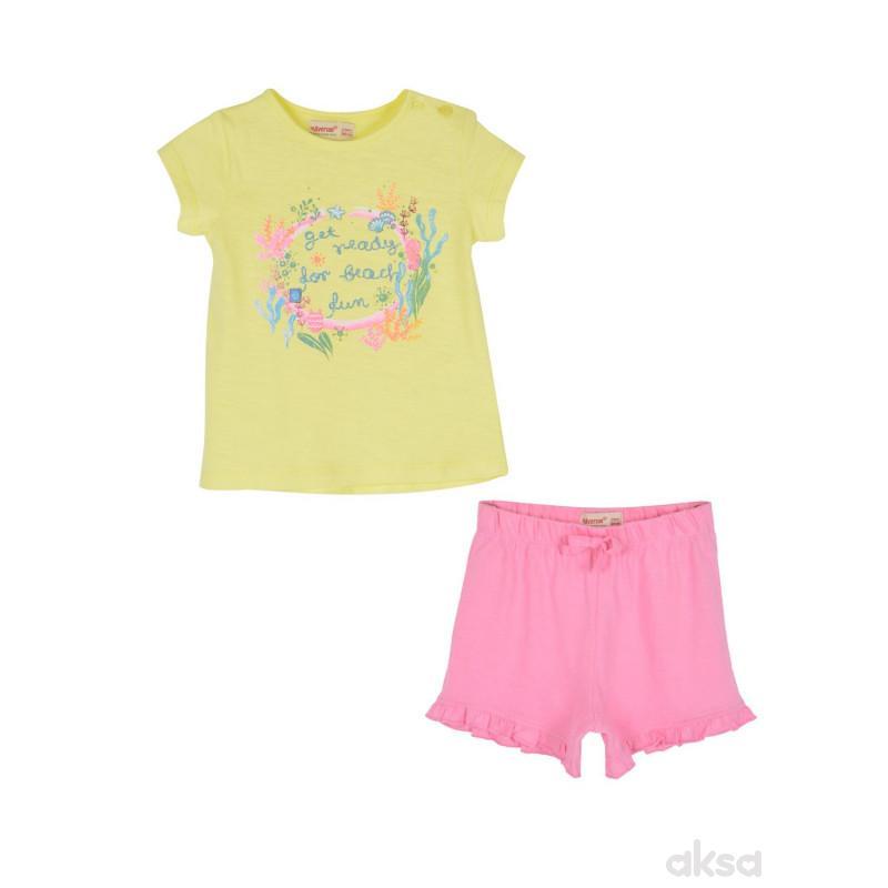 SilverSun kompl.(majica,kr i šorc),devojčice,1-86-1-86  4-ŽUTA