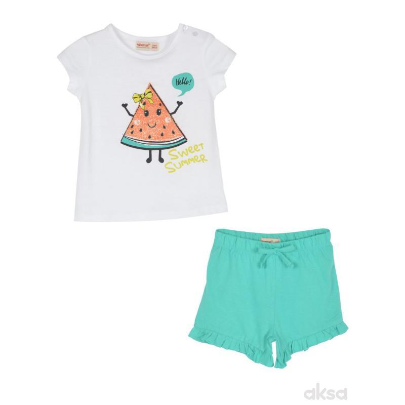 SilverSun kompl.(majica,kr i šorc),devojčice,1-86-1-86  1-BELA