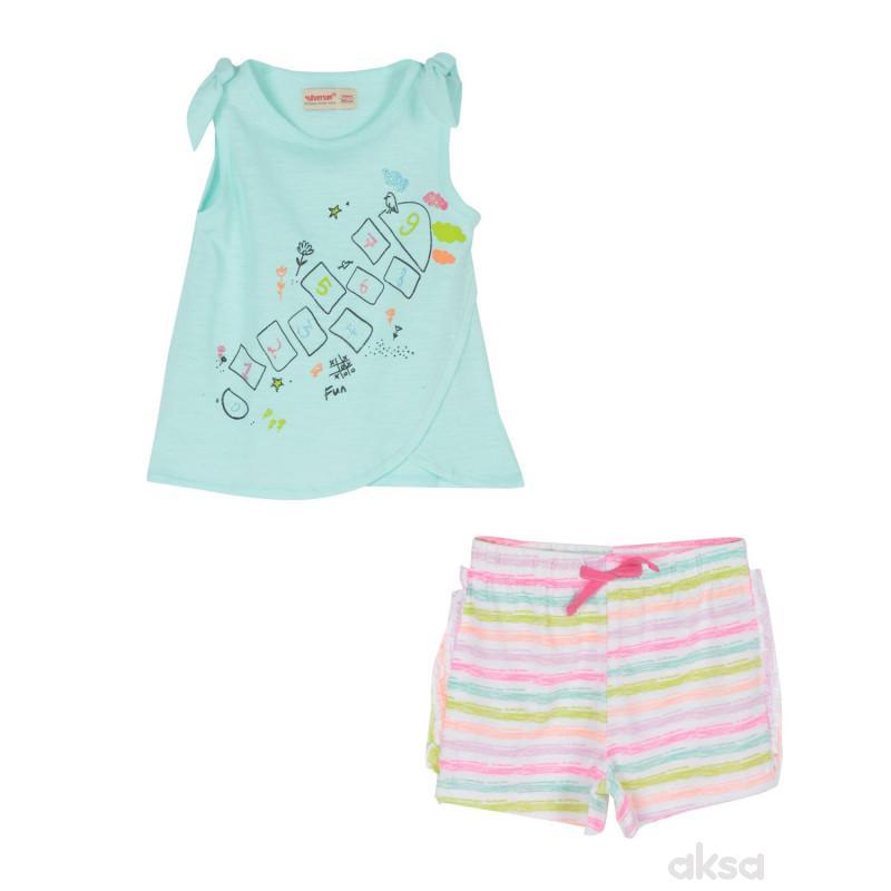 SilverSun kompl.(majica,kr i šorc),devojčice,1-86-1-86  7-ZELENA