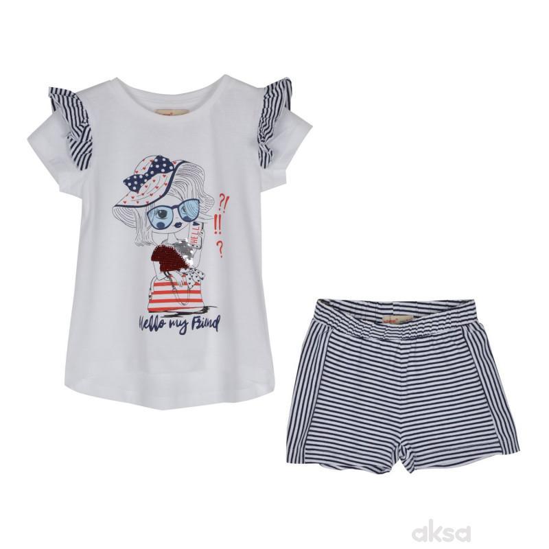 SilverSun kompl.(majica,kr i šorc),devojčice,2-92-2-92  2-PLAVA