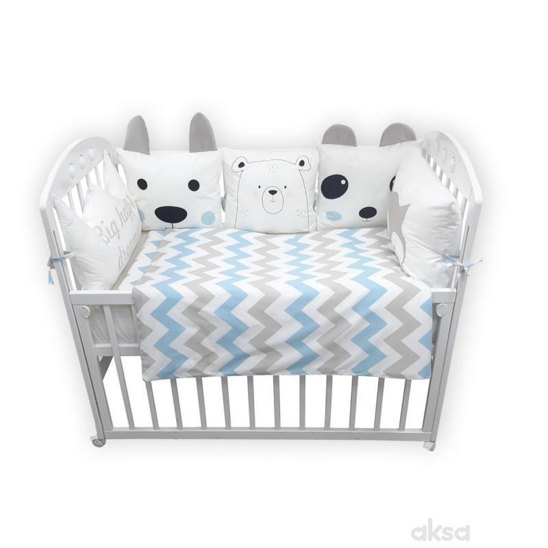 Lillo&Pippo punjena posteljina medo