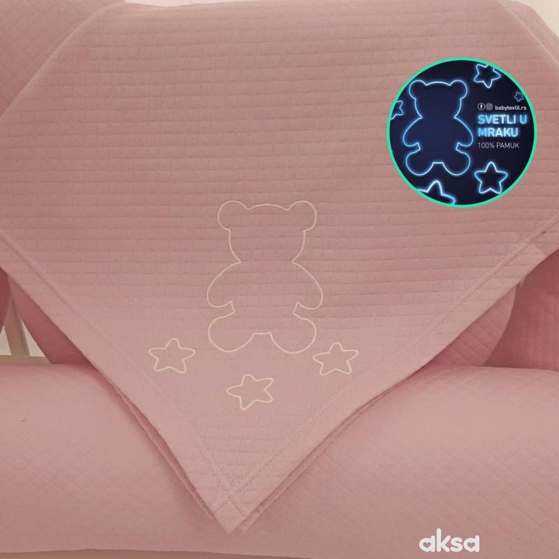 Baby Textil prekrivač Pepito,roze-ROZE  3-ROZE