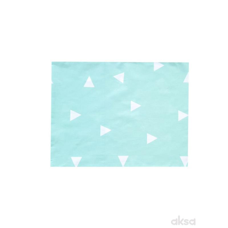 Lillo&Pippo jastučnica Trouglovi,40X50CM-MINT  7-ZELENA