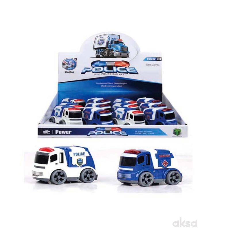 HK Mini igračka policijski auto, displej 12 komada