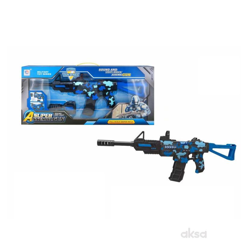 HK Mini puška sa zvukovima i svjetlom, plava 1