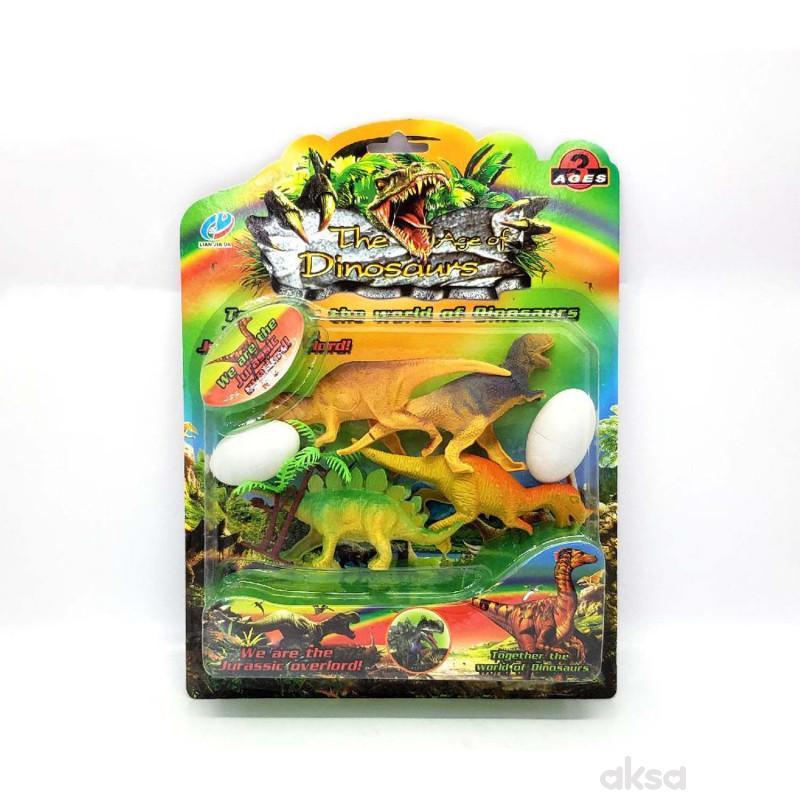 HK Mini igračka dinosaurus set 2