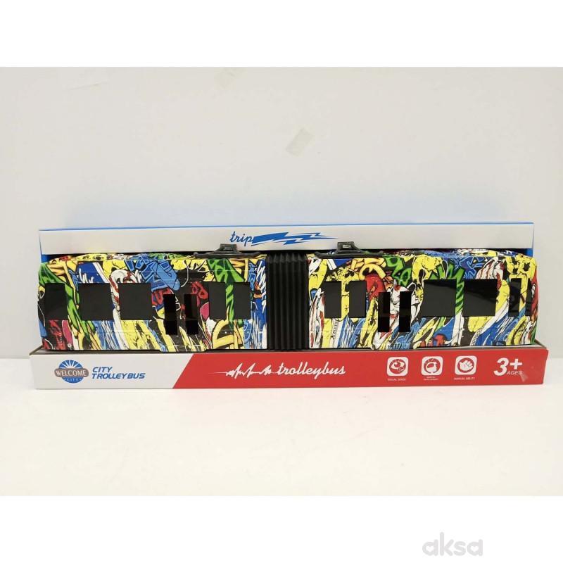 HK Mini igračka šareni autobus