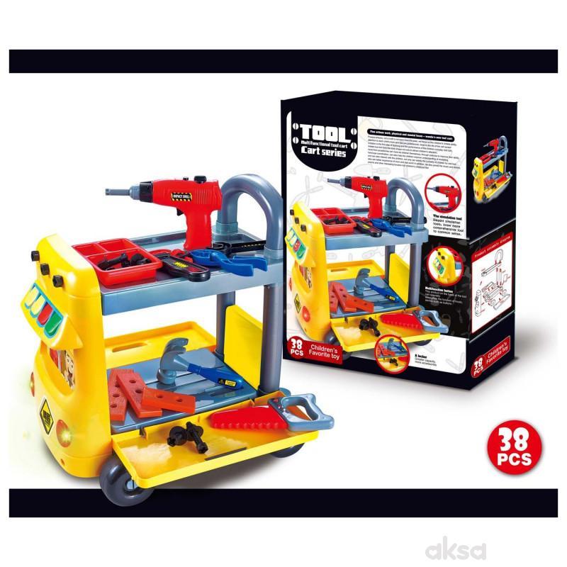 HK Mini igračka set kolica sa alatom