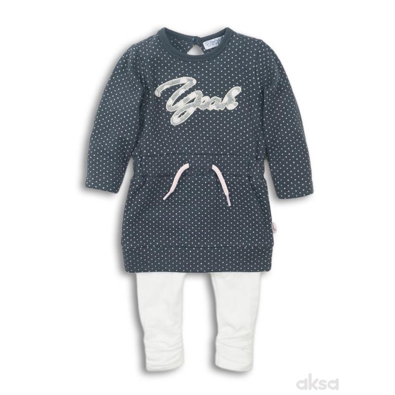Dirkje komplet 2/1 (haljina, helanke), djevojčice